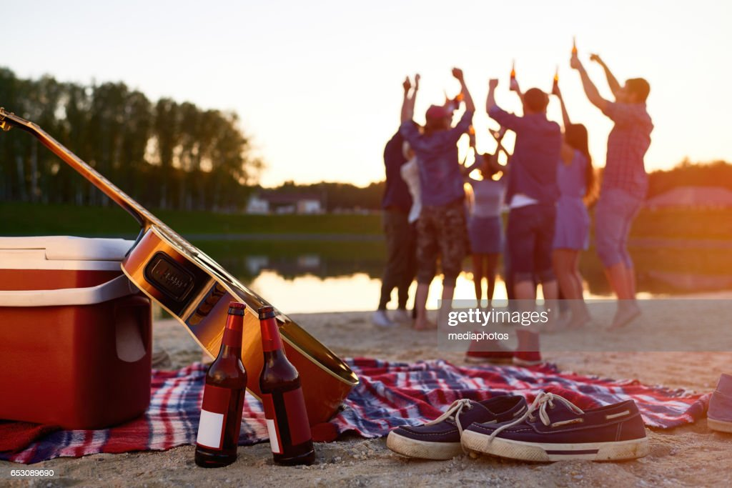 Beach party : Bildbanksbilder
