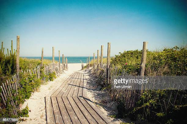 beach path - boardwalk stock pictures, royalty-free photos & images