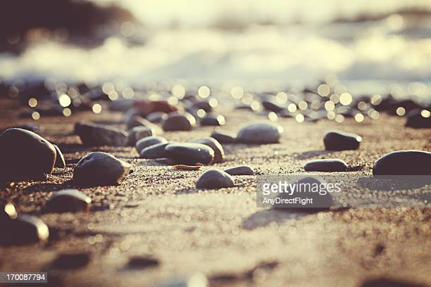 beach pebbles - pebble stock photos and pictures