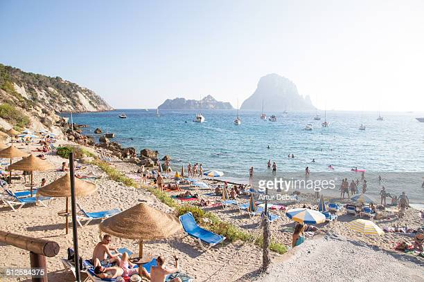 beach people - ibiza island stock pictures, royalty-free photos & images