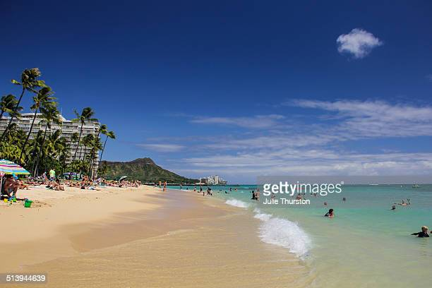 beach people - ワイキキビーチ ストックフォトと画像