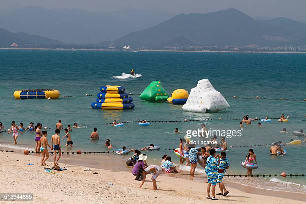 beach people - lagarde stock photos and pictures