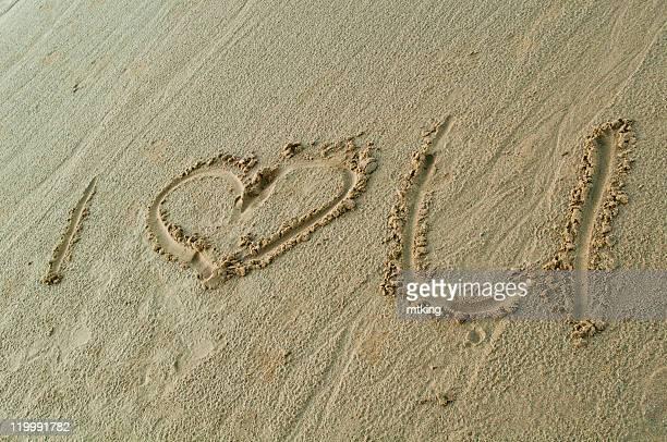 beach - i love you frase em inglês - fotografias e filmes do acervo