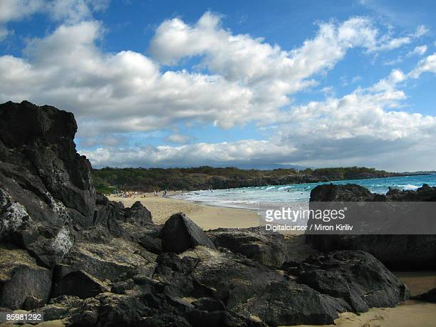 beach - hapuna beach stock photos and pictures