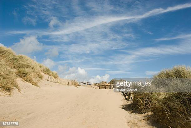 beach - camber sands stock photos and pictures