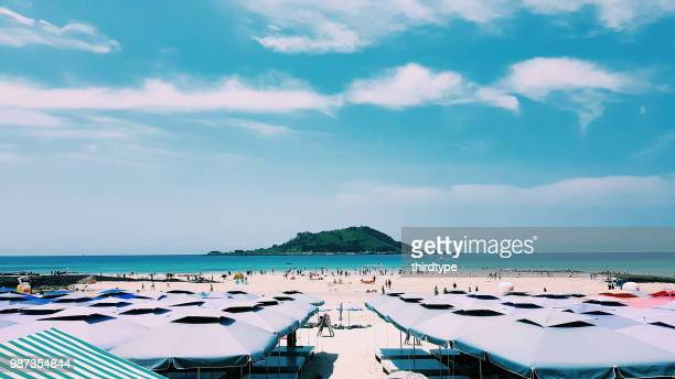 beach - jeju stock photos and pictures