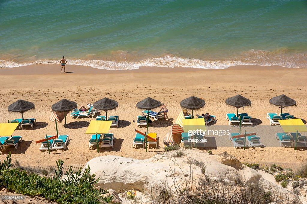Beach Praia da Falesia, Vilamoura, Algarve, Portugal : Stock Photo