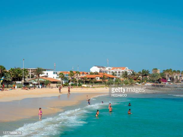 Beach Praia de Santa Maria. The island Sal. Cape Verde. An archipelago in the equatorial atlantic in Africa..