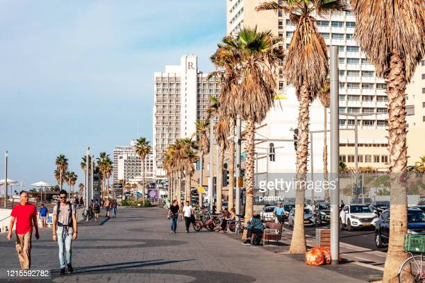 "beach promenade - tel aviv, israel - ""peeter viisimaa"" or peeterv stock pictures, royalty-free photos & images"