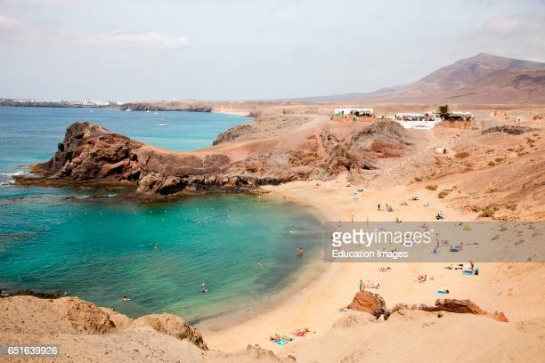 Beach Punta Del Papagayo Lanzarote Canary Spain