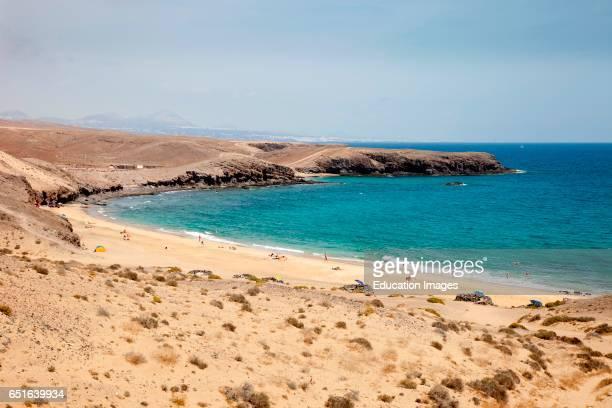 Beach. Punta Del Papagayo. Lanzarote. Canary. Spain.