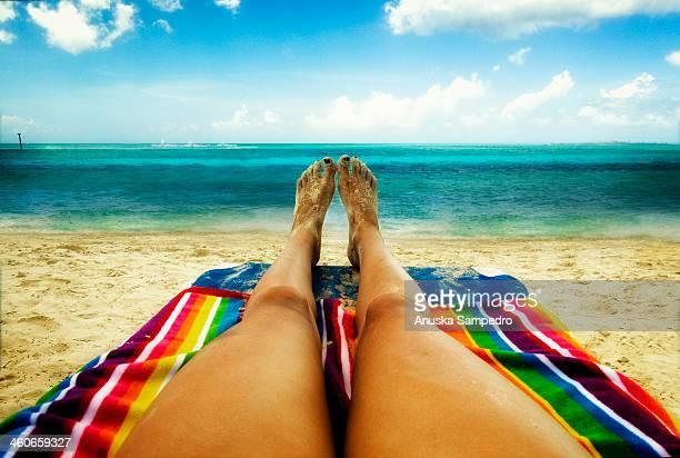 beach relax - nassau stock photos and pictures