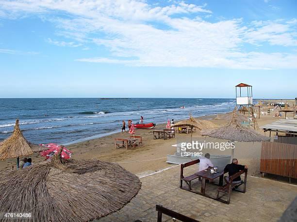 beach resort in azerbaijan, caspian sea. - azerbaijan stock pictures, royalty-free photos & images