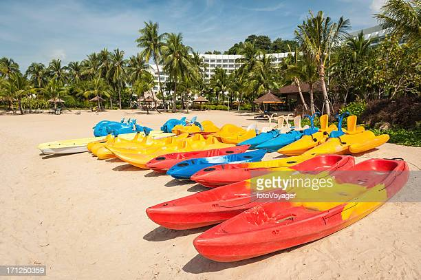 Beach resort paddleboards and pedalos Singapore