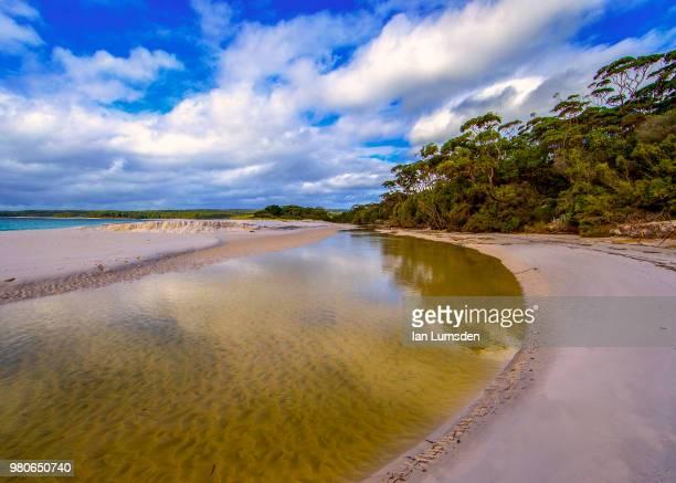A beach river
