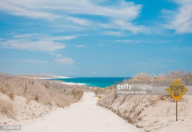 beach road - baja california peninsula stock pictures, royalty-free photos & images