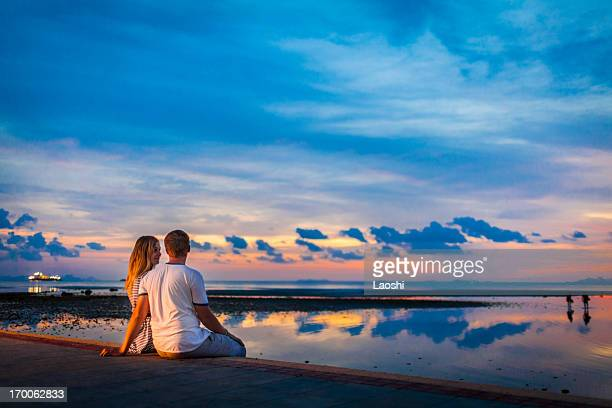 beach romance - ko samui stock photos and pictures