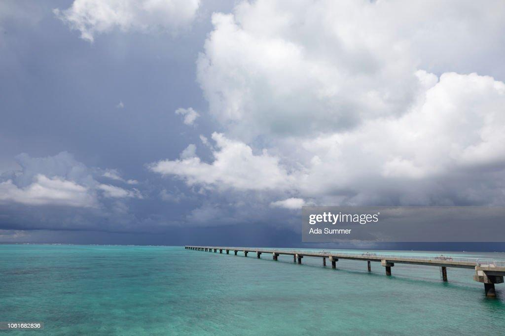 beach rwy17end on Shimojiji Island, Okinawa Prefecture, Japan : Stock Photo