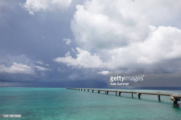 beach rwy17end on shimojiji island, okinawa prefecture, japan - iwate prefecture stock photos and pictures