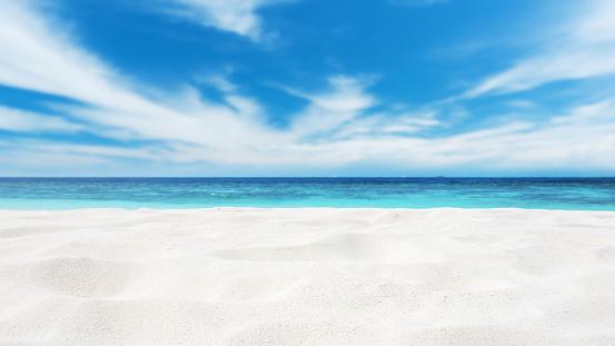 Beach Sand Copy Space Scene 942152446