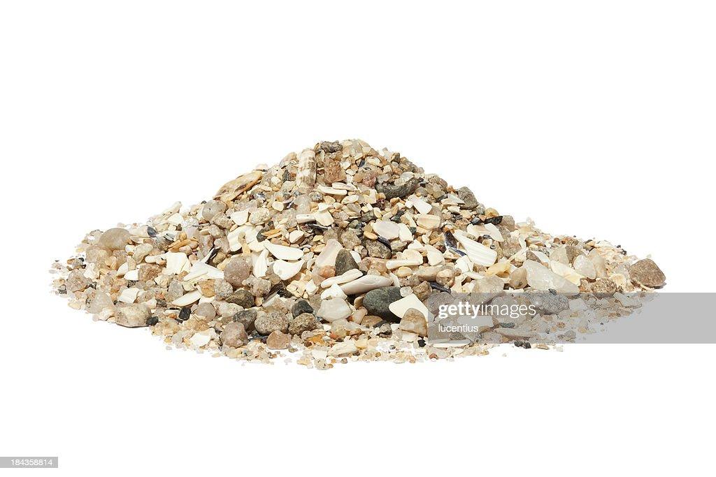 Beach sand isolated on white : Stock Photo
