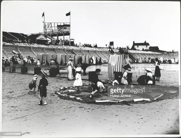 Beach scene at Bridlington, Yorks, in 1913, Bridlington.