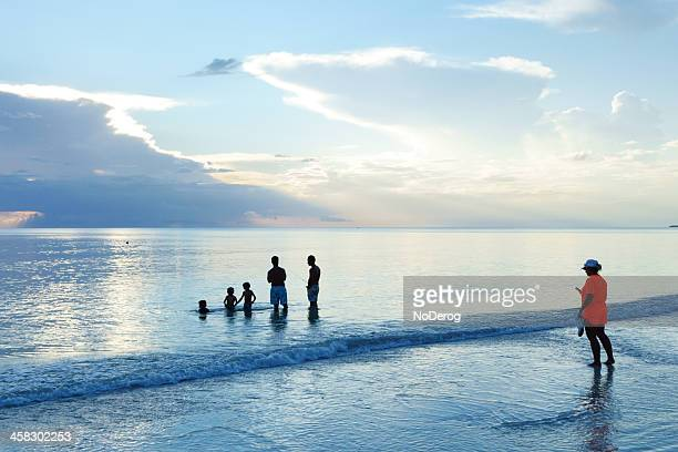 beach scene at dusk on marco island - marco island stock pictures, royalty-free photos & images