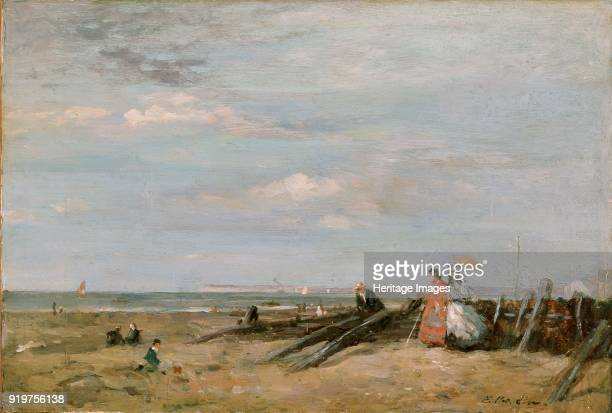 A Beach Scene at Trouville 1860s Artist Eugene Louis Boudin