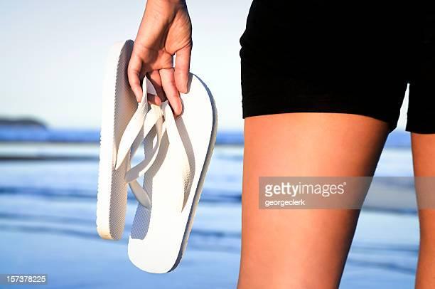Beach Scene: Carrying Flip-Flops