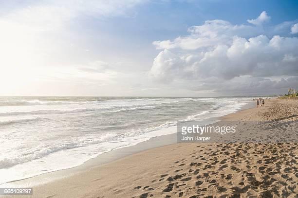 Beach scene in Seminyak, Bali