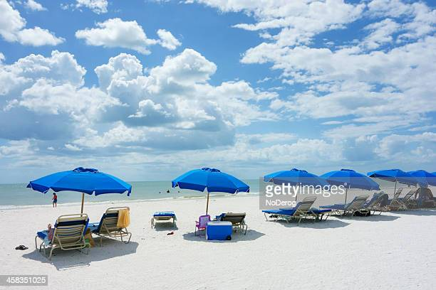 beach scene on marco island - marco island stock pictures, royalty-free photos & images