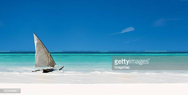 beach scene - zanzibar stock photos and pictures