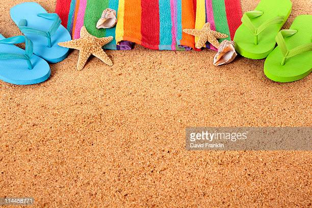 Beach scene with copyspace