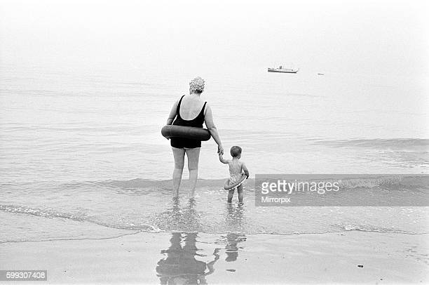 Beach Scenes Eastbourne East Sussex 12th August 1968