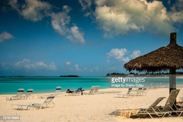 beach scenes - abaco islands stock photos and pictures