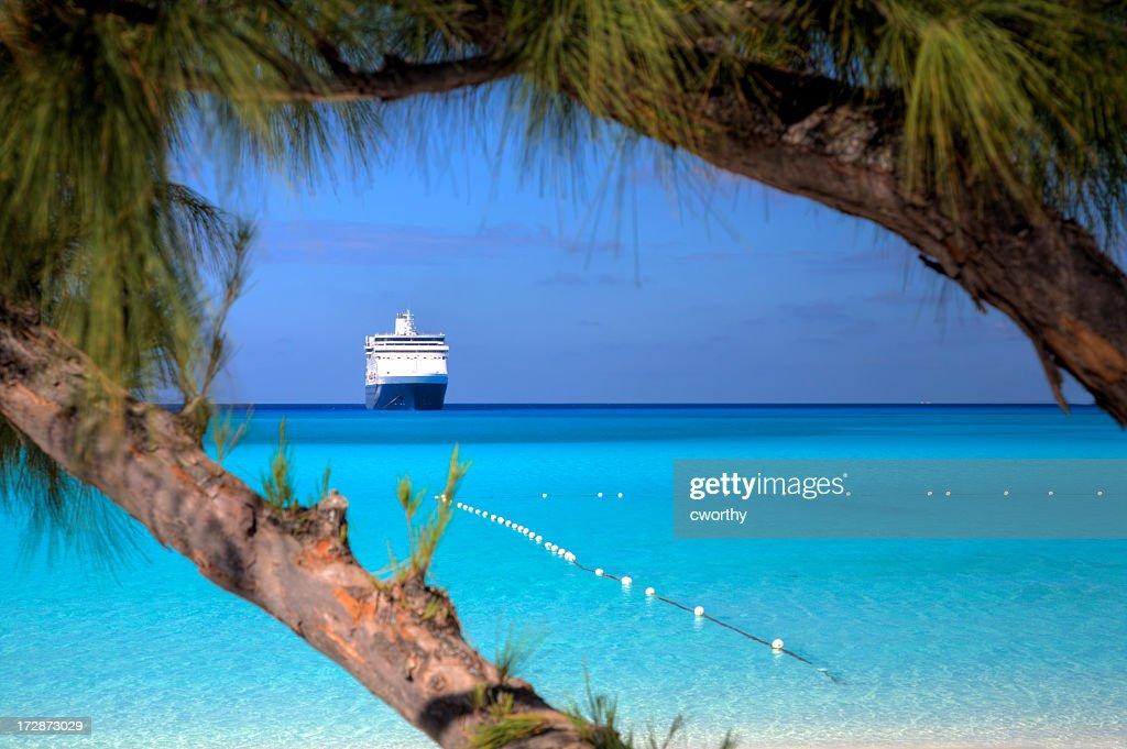 Beach, Seas and Ship : Stock Photo