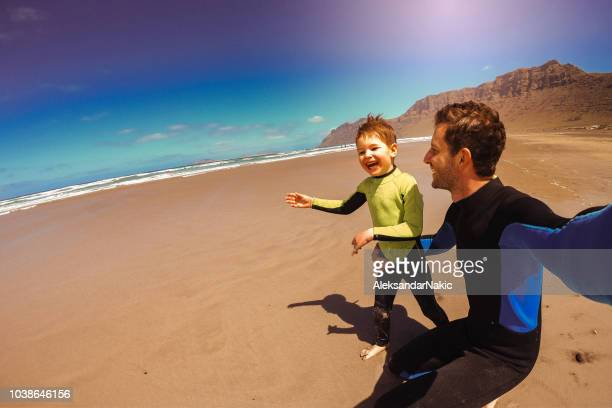 beach selfie - lanzarote stock pictures, royalty-free photos & images
