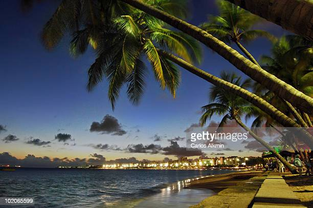 Beach skyline at night, Maceio
