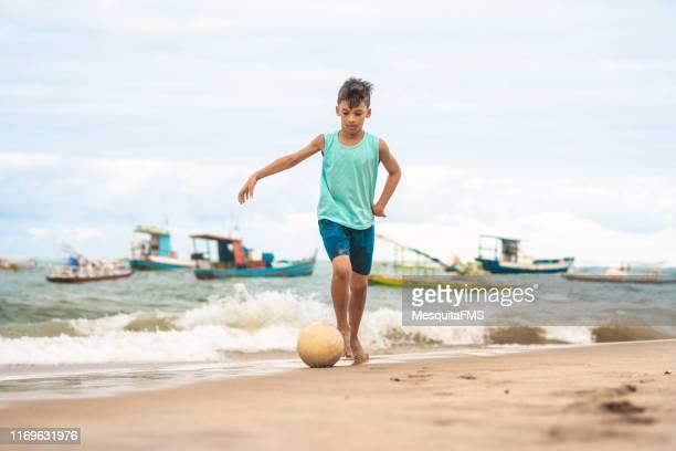 beach soccer - porto galinhas stock photos and pictures