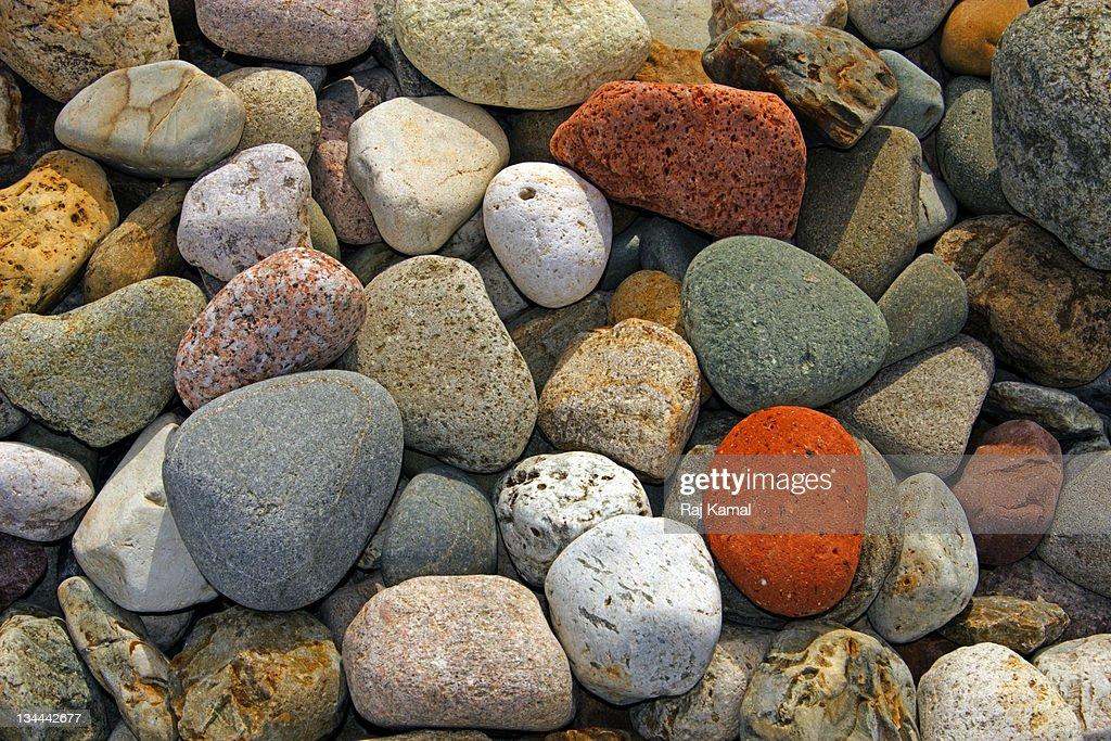 Beach Stones : Bildbanksbilder