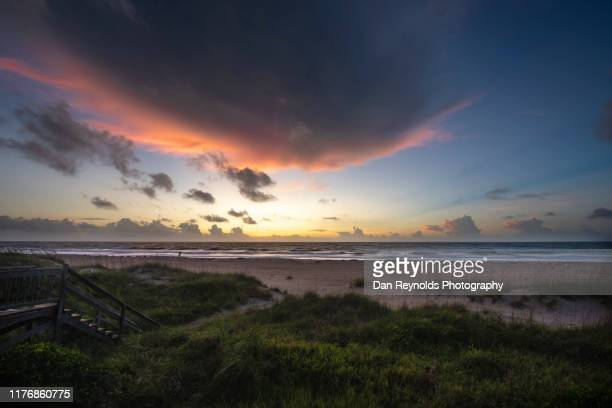 beach sunrise - jacksonville beach stock pictures, royalty-free photos & images