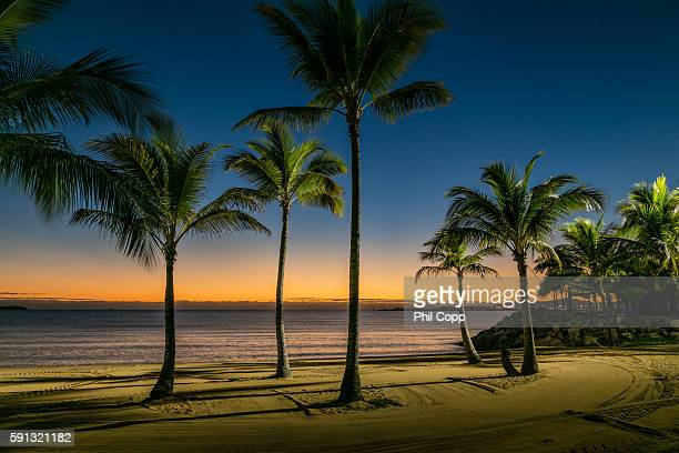 beach sunrise - townsville queensland stock pictures, royalty-free photos & images