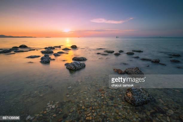 Beach sunset, Beautiful natural seascape