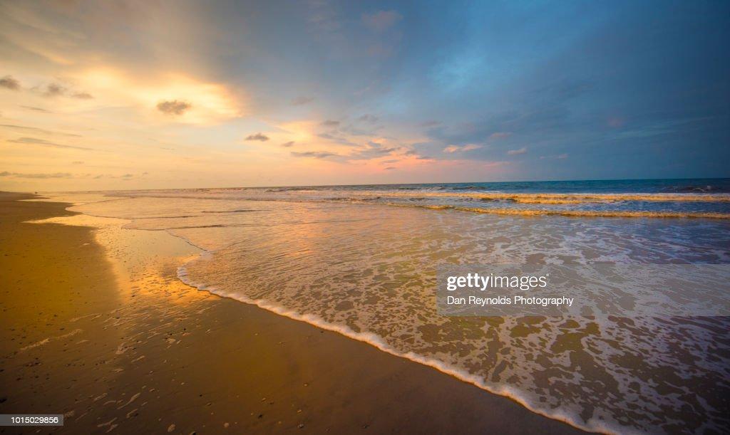 beach sunset copyspace ストックフォト getty images