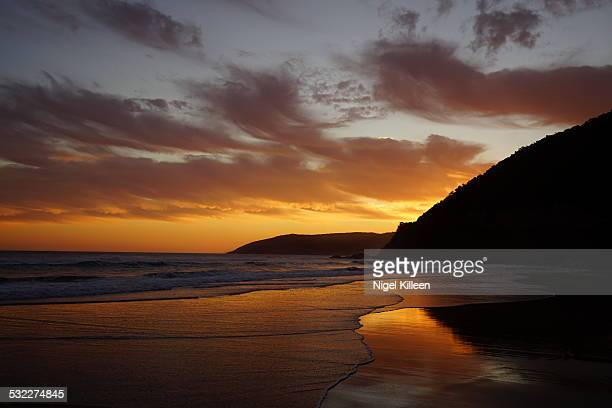 Beach sunset, Great Ocean Road
