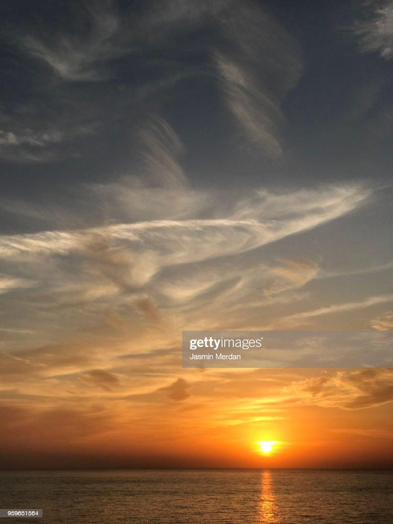 Beach sunset : Stock-Foto