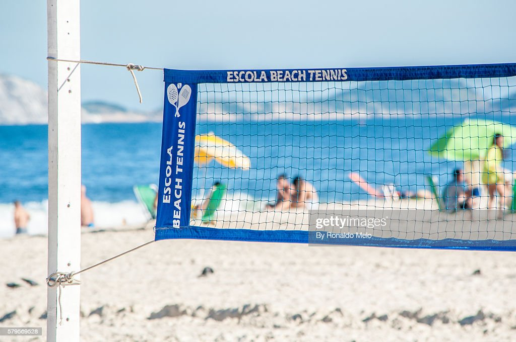 Beach Tennis net in detail : Stock Photo