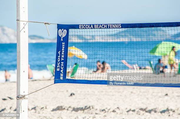 Beach Tennis net in detail