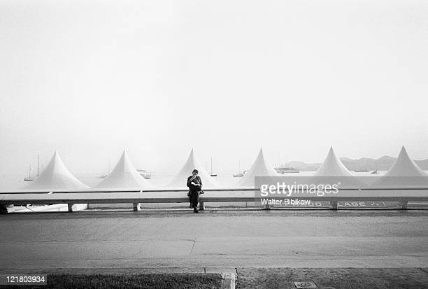 beach tents, cannes film festival, france - film festival ストックフォトと画像