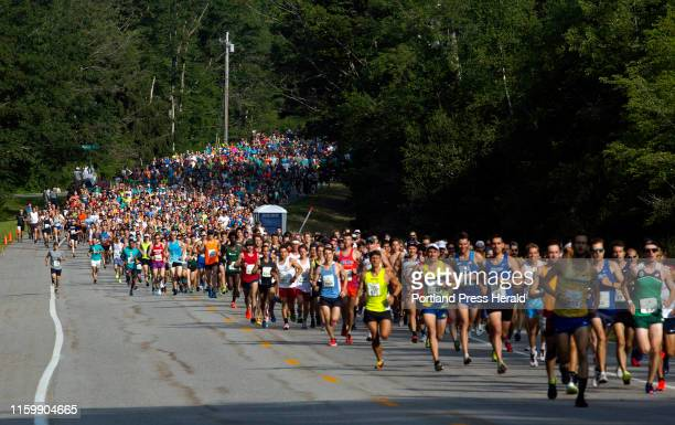 Beach to Beacon runners at the start of the annual 10k road race on Saturday August 3 2019